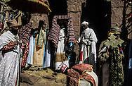 Ethiopia. Lalibela. Church Bieta Mariam ( house of mary) Timkat orthodox epiphany,  the tabots (covenant ark) ready for the procession      / Eglise Bieta Mariam (maison de Marie) Timkat fete orthodoxe de líepiphanie, sortie des tabots (arche díalliance)   Lalibela  Ethiopie