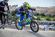 Men Elite #130 (PILARD Arthur) FRA the 2018 UCI BMX World Championships in Baku, Azerbaijan.