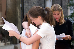 GCSE results out today. Girls celebrate at St Marys School, Cambridge..Girls celebrating their results by going punting along the backs of Cambridge, August 24, 2000..Photo by Andrew Parsons/i-Images.