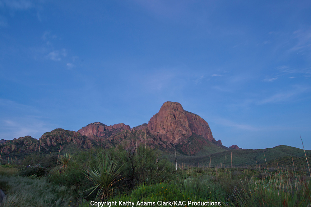 Chisos Mountains at Big Bend National Park, Texas. Vantage point is the Green Gulch parking area.