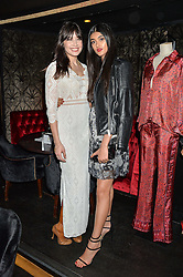 Left to right, DAISY LOWE and NEELAM GILL at a party to celebrate the UK launch of French fashion label ba&sh at The Arts Club, Dover Street, London on 15th March 2016.