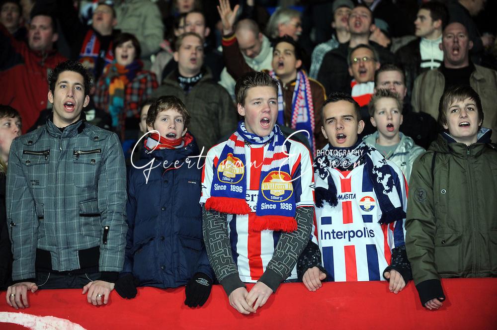 28-02-2009 Voetbal:Willem II:Heracles Almelo:Tilburg<br /> Supporters Willem II<br /> Foto: Geert van Erven