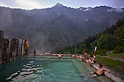 Natural Hot water pool at Kheerganga, Parvati Valley.