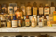 The Museum of the Oregon Territory has a fully stocked, authentic exhibit of a pharmacy from the 19th Century.