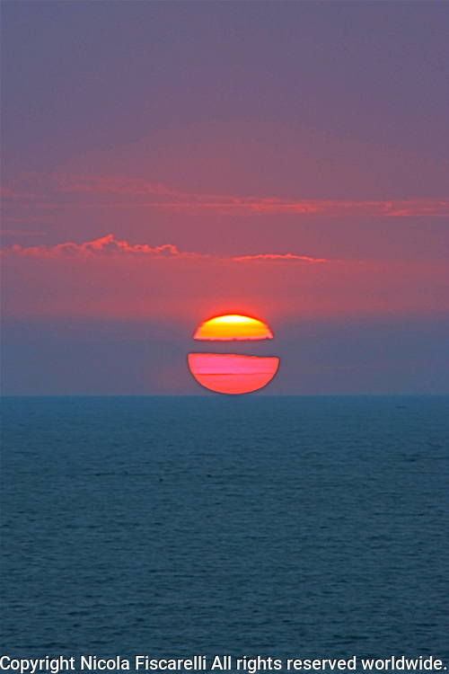 One of many beautiful  sunsets  in the Bay of Banderas Mexico.