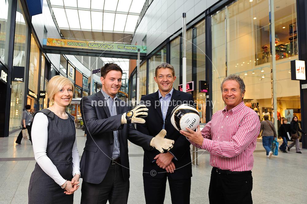 St Stephens Shopping Centre. Pictured LtoR Kate Carol, Rich Quelch,  Jim Harris, John Butterick