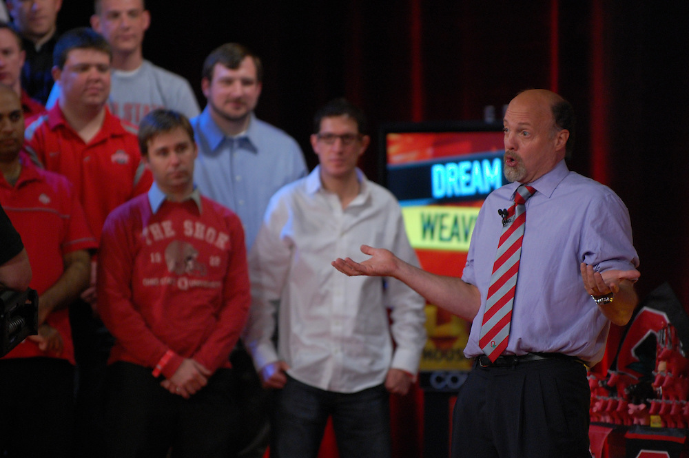Jim Cramer recorded his show at the Drake on Wednesday afternoon.