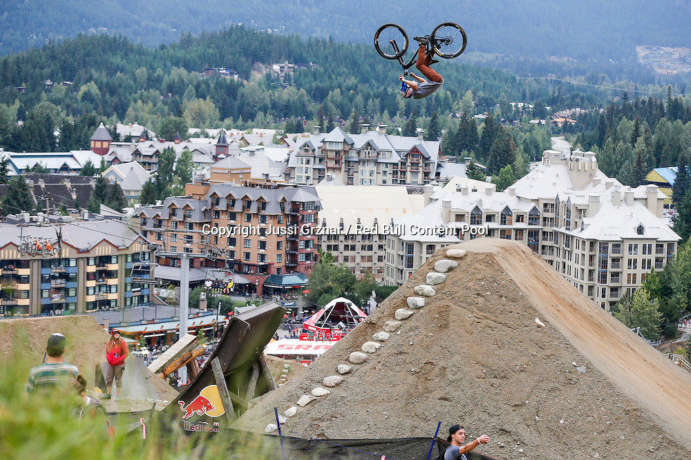 Anthony Messere performs a frontflip at the Red Bull Joyride in Whistler, Canada on August 16th, 2015 // Jussi Grznar / Red Bull Content Pool // P-20150817-00125 // Usage for editorial use only // Please go to www.redbullcontentpool.com for further information. //