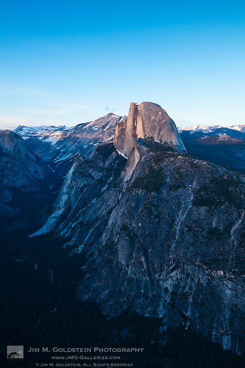 Half Dome at Sunset from Glacier Point lookout - Yosemite National Park, California