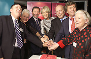 Colin Lowe, Jacqueline Wilson, David Blunkett, Julian Fellowes, Melvin Bragg and Baroness James . 70th anniversary of the RNIB Talking `book service. Arts Club. Dover St. London.  8 November 2005 . ONE TIME USE ONLY - DO NOT ARCHIVE © Copyright Photograph by Dafydd Jones 66 Stockwell Park Rd. London SW9 0DA Tel 020 7733 0108 www.dafjones.com