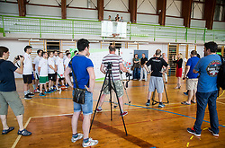 Slovenian Deaf Basketball team at media day, on June 13, 2016 in GIB Centre, Ljubljana, Slovenia. Photo by Vid Ponikvar / Sportida