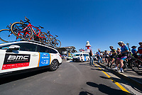 Teams arriving at Stage 1, Port Adelaide to Lyndoch, of the Tour Down Under, Australia on the 16 of January 2018 ( Credit Image: © Gary Francis / ZUMA WIRE SERVICE )