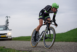 Riejanne Markus (Liv Plantur) at Omloop van Borsele Time Trial 2016. A 19.9 km individual time trial starting and finishing in 's-Heerenhoek, Netherlands on 22nd April 2016.