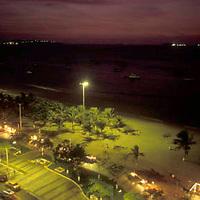 Bahia de pozuelos y Paseo Colon, vista nocturna, Puerto La Cruz, Anzoategui, Venezuela