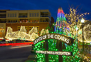 The Lights of the Ozarks on the downtown Fayetteville square in December of 2014, in Arkansas. Photo by Beth Hall