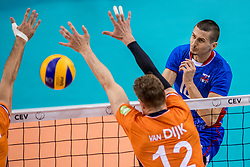 28-05-2017 NED: 2018 FIVB Volleyball World Championship qualification day 5, Apeldoorn<br /> Nederland - Slowakije / Matej Patak #12