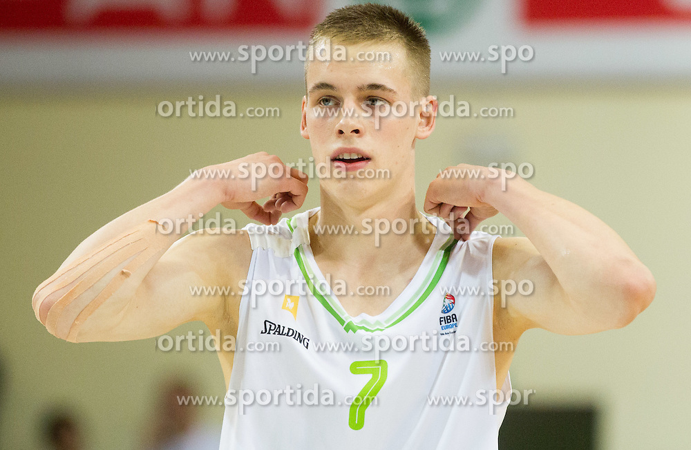 Klemen Prepelic of Slovenia during basketball match between National teams of Slovenia and Lithuania in Preliminary Round of U20 Men European Championship Slovenia 2012, on July 14, 2012 in Domzale, Slovenia. Slovenia defeated Lithuania 87-81. (Photo by Vid Ponikvar / Sportida.com)