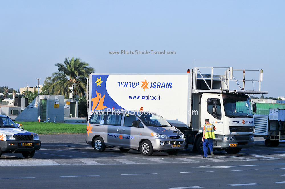 Israel, Ben-Gurion international Airport Israir supply truck