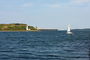Halifax, Nova Scotia, George's Island & Lighthouse. National Historic Site.