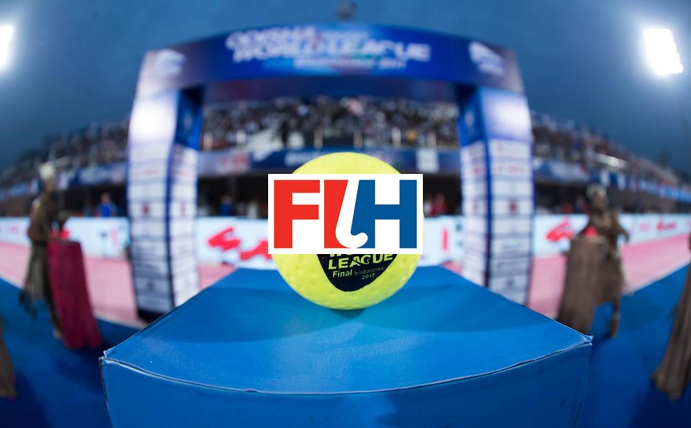 Odisha Men's Hockey World League Final Bhubaneswar 2017<br /> Match id:14<br /> England v Argentina , Quater Final<br /> Foto: hockey ball for the match<br /> WSP COPYRIGHT KOEN SUYK