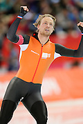 "Michel Mulder (NED), <br /> FEBRUARY 10, 2014 - Speed Skating : <br /> Men's 500m <br /> at ""ADLER ARENA"" Speed Skating Center <br /> during the Sochi 2014 Olympic Winter Games in Sochi, Russia. <br /> (Photo by Yusuke Nakanishi/AFLO SPORT) [1090]"