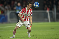 October 4, 2018 - Eindhoven, Netherlands - Hirving Lozano of PSV pictured in action during the UEFA Champions League Group B match between PSV Eindhoven and FC Internazionale Milano at Philips Stadium in Eindhoven, Holland on October 3, 2018  (Credit Image: © Andrew Surma/NurPhoto/ZUMA Press)