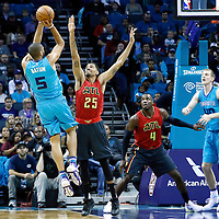 01 November 2015: Charlotte Hornets center Al Jefferson (25) takes a jump shot over Atlanta Hawks guard Thabo Sefolosha (25) during the Atlanta Hawks 94-92 victory over the Charlotte Hornets, at the Time Warner Cable Arena, in Charlotte, North Carolina, USA.