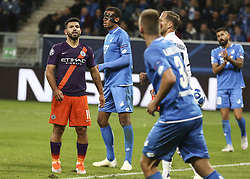 October 2, 2018 - Sinsheim, Germany - Sergio Aguero, during the UEFA Champions League group F football match between TSG 1899 Hoffenheim and Manchester City at the Rhein-Neckar-Arena in Sinsheim, southwestern Germany, on October 2, 2018. (Credit Image: © Elyxandro Cegarra/NurPhoto/ZUMA Press)