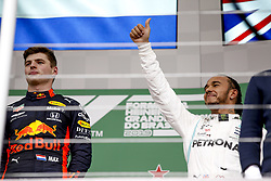 November 17, 2019, Sao Paulo, Brazil: Motorsports: FIA Formula One World Championship 2019, Grand Prix of Brazil, . #33 Max Verstappen (NLD, Aston Martin Red Bull Racing), .#44 Lewis Hamilton (GBR, Mercedes AMG Petronas Motorsport) (Credit Image: © Hoch Zwei via ZUMA Wire)