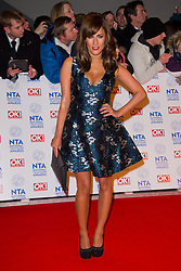 Caroline Flack arrives at the National Television Awards at the 02 Arena, London Wednesday January 23, 2013. Photo by Chris Joseph / i-Images