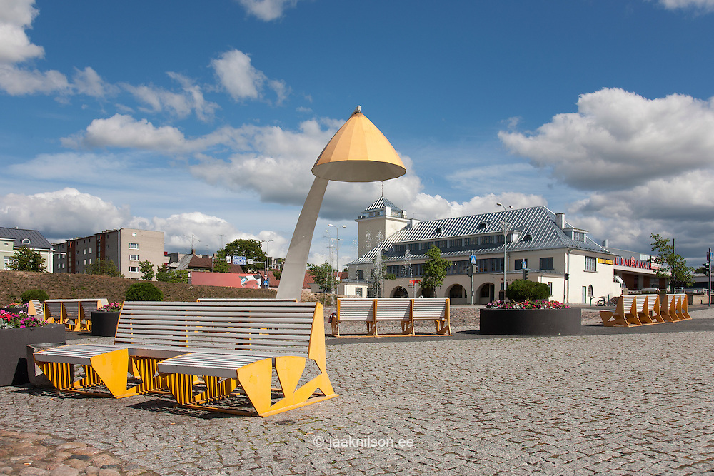 Square in Rakvere, Lääne-Viru county, Estonia