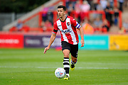 Lloyd James (4) of Exeter City on the attack during the EFL Sky Bet League 2 match between Exeter City and Lincoln City at St James' Park, Exeter, England on 19 August 2017. Photo by Graham Hunt.