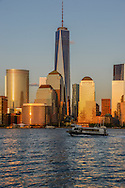 Freedom Tower, 1 WTC, the tallest skyscraper in the Western Hemisphere, designed by David Childs, New York City Skyline, Manhattan, New York