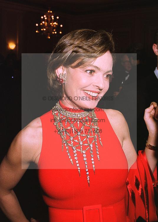 COUNTESS MAYA VON SCHONBURG ZU GLAUCHAU & WALDENBURG former wife of Friedrich Christian Flick, at a reception in London on 16th March 1998.<br /> MGB 99