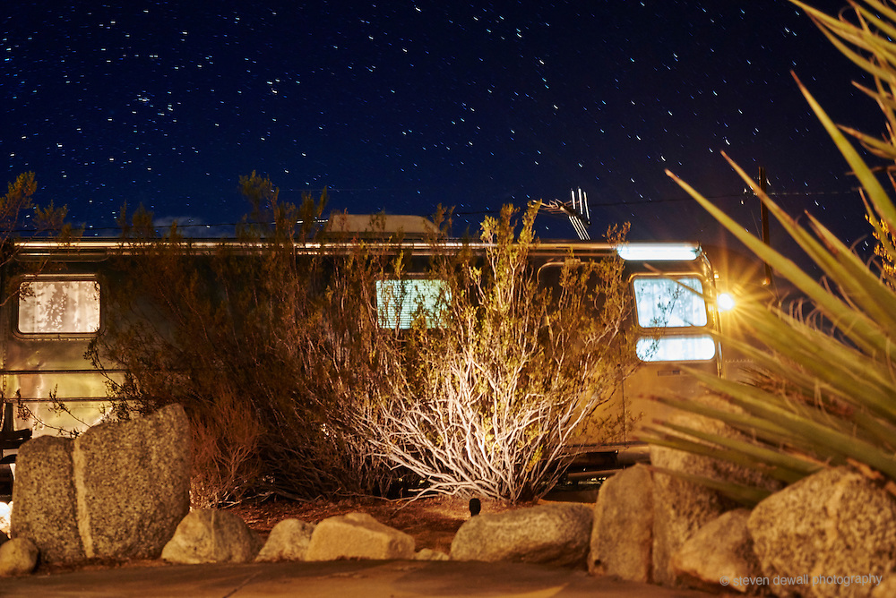 Airstream camper in Joshua Tree, CA.