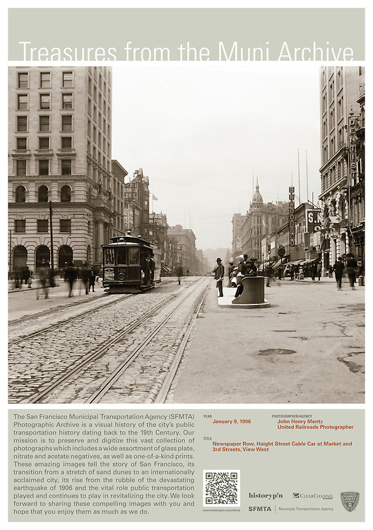 Haight Street Cable Car at Market and 3rd Streets | January 9, 1906 | Treasures from the Muni Archive