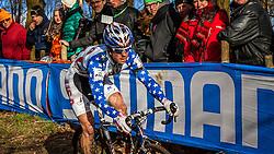Jonathan PAGE (17,USA), 4th lap at Men UCI CX World Championships - Hoogerheide, The Netherlands - 2nd February 2014 - Photo by Pim Nijland / Peloton Photos