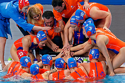 Coach Arno Havenga of Netherlands during the semi final Netherlands vs Russia on LEN European Aquatics Waterpolo January 23, 2020 in Duna Arena in Budapest, Hungary