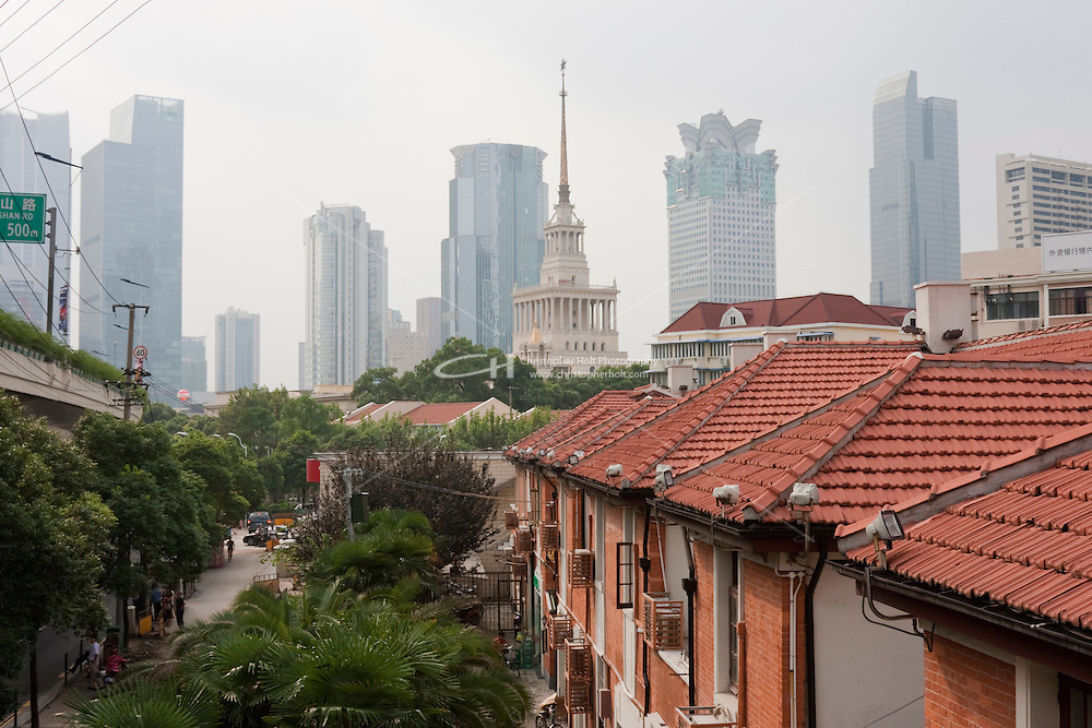 homes and streets in Shanghai China