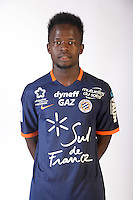 Mamadou NDiaye during the photocall of Montpellier for new season of Ligue 1 on September 27th 2016 in Montpellier<br /> Photo : Mhsc / Icon Sport