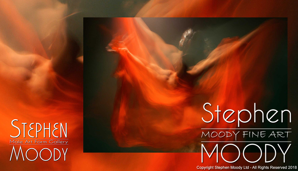 Rosebud - Abstract Art of the Male Form created by artist Stephen Moody of Scottsdale, AZ.  Large wall art  in shades of red for businesses, hospitality industry, interior designers and individual collectors.