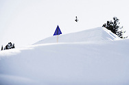 Eric Willet during Snowboard Slopestyle Practice at the 2016 X Games Aspen in Aspen, CO. ©Brett Wilhelm/ESPN