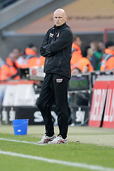 25.03.2012, Rhein Energie Stadion, Koeln, GER, 1. FBL, 1.FC Koeln vs Borussia Dortmund, 27. Spieltag, im Bild Stale SOLBAKKEN (Trainer 1.FC Koeln) mit enttaeuschtem - boesem Blick // during the German Bundesliga Match, 27th Round between 1.FC Koeln and Borussia Dortmund at the Rhein Energie Stadion, Koeln, Germany on 2012/03/25. EXPA Pictures © 2012, PhotoCredit: EXPA/ Eibner/ Gerry Schmit..***** ATTENTION - OUT OF GER *****