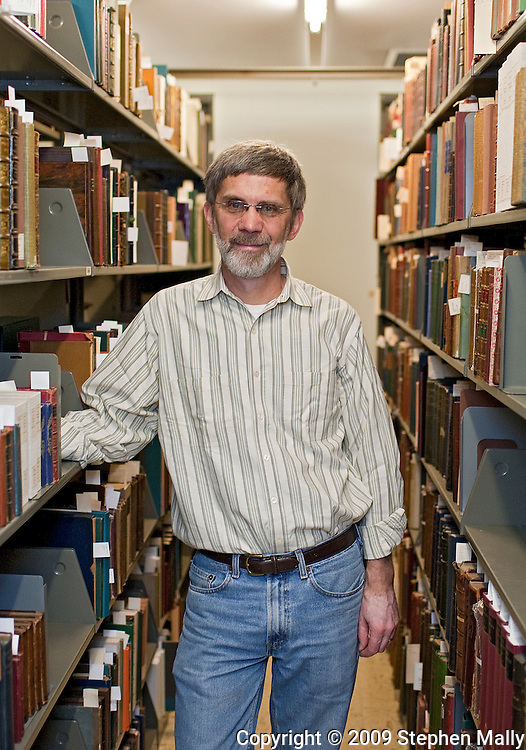 Timothy Barrett in the Special Collections section of The University of Iowa Library in Iowa City, Iowa on September 17, 2009.