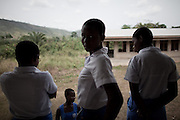 Between classes at an all-girls school run by FAWE in Obodan, Ghana.