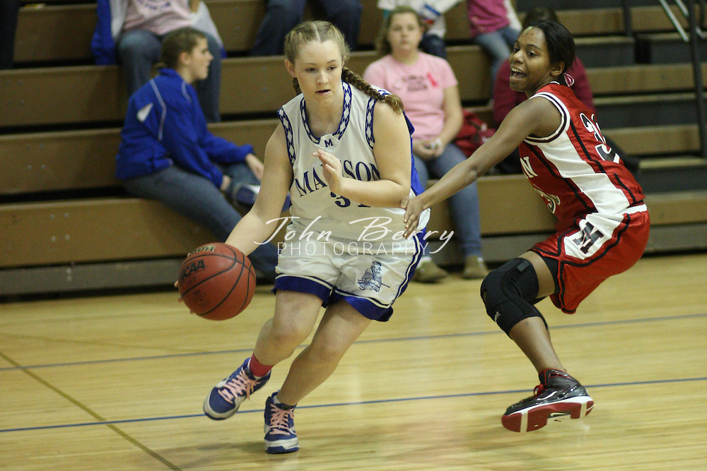 Date:  February/4/10, MCHS Varsity Girls Basketball vs George Mason, Breast Cancer Awareness Game,  The Girls JV Basketball team beat George Mason tonight 21-17. Chandler Gentry led the way with 12 points. Madison (12-8)