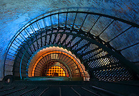 Look down the spiral staircase of Currituck Lighthouse in North Carolina's Outer Banks.