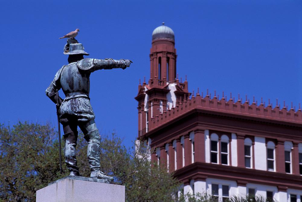 Statue, Juan Ponce de Leon, St. Augustine, Florida, USA