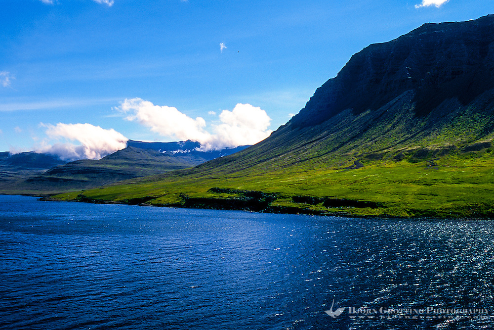 Seydisfiordur in the Eastfjords of Iceland.