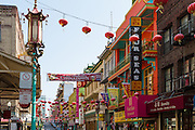USA, California, San Francisco. A street in Chinatown.